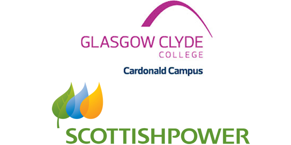 Glasgow Clyde College & Scottish power logo